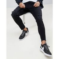 Pull&Bear Ripped Jeans In Carrot Fit In Black - Black, jeans