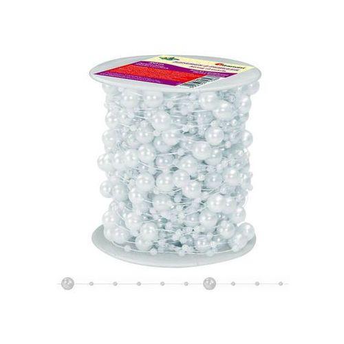 Girlanda perłowa sznurek z perełkami biały 20m - biały / perłowy marki Titanum