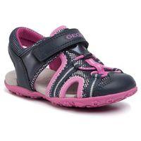 Sandały GEOX - B Sand Roxanne B B02D9B 0BCEW C4268 S Navy/Fuchsia, kolor różowy