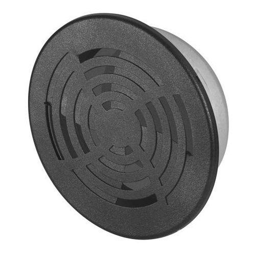 Velite Kratka dekoracyjna metalowa fi 10 cm z żaluzją grafitowa (5905033315518)