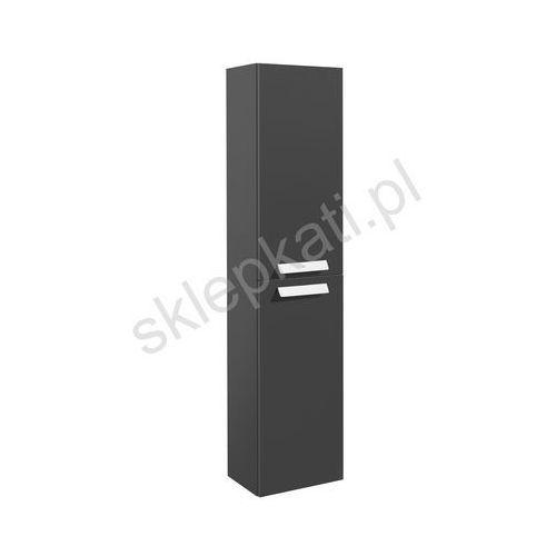 ROCA DEBBA kolumna wysoka obustronna 150 cm z 4 półkami, kolor SZARY ANTRACYT POŁYSK A856844153