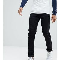 tall tapered jeans in black - black, Burton menswear