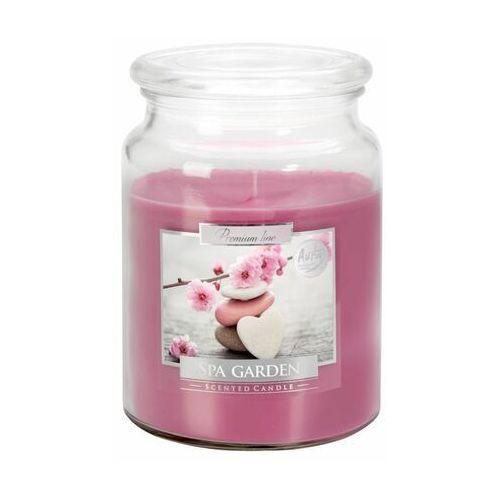 Świeca zapachowa w słoju spa garden kwiatowo-owocowa marki Bispol