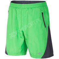 MĘSKIE SPODENKI SPORTOWE 4F T4L16 SKMF004 ZIELONY L, kolor zielony