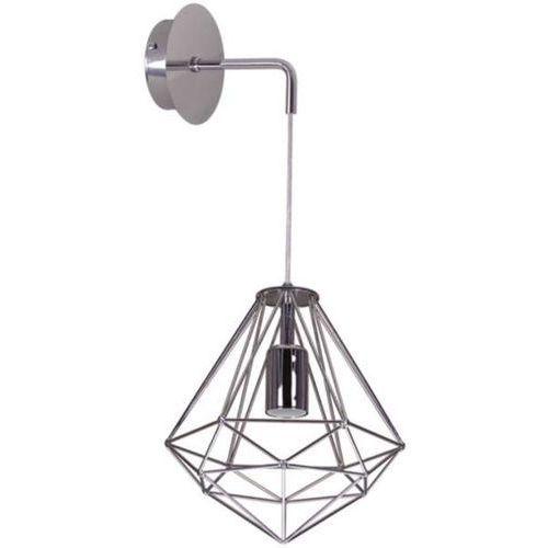Mlamp Kinkiet lampa druciana silver k-4804 ścienna oprawa metalowa loftowa chrom (5901425516389)