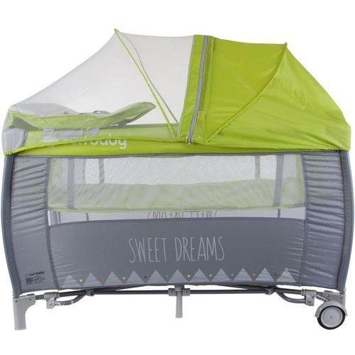 Łóżeczko z pełnym wyposażeniem Sweet Dreams zielone Sun Baby SD995/GZ (5907478648862)