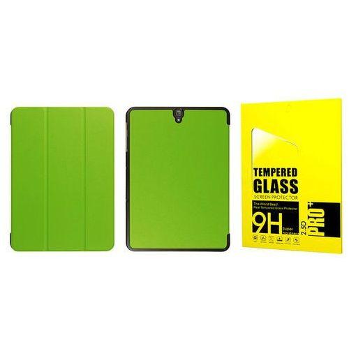 4kom.pl Etui book cover samsung galaxy tab s3 9.7 zielone + szkło - zielony