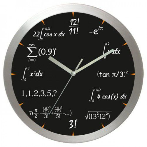 Zegar aluminiowy matematyka #4, AL2412M4