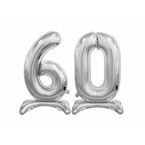 Zestaw balonów foliowych 60 srebrna - 74 cm