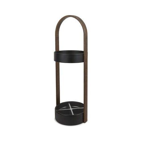 - stojak na parasole hub - czarno-orzechowy - orzech włoski marki Umbra