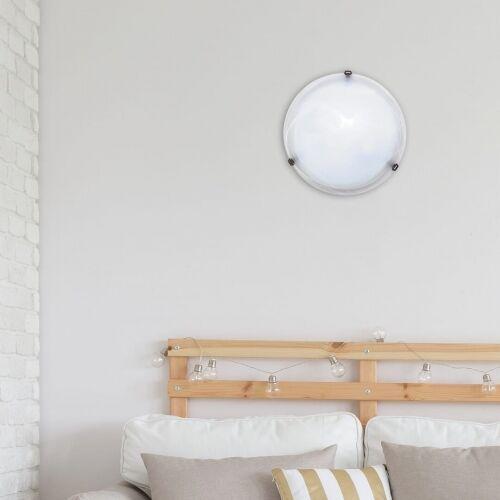 Rabalux Plafon lampa sufitowa alabastro 2x60w e27 biały/brąz 3303 (5998250333038)