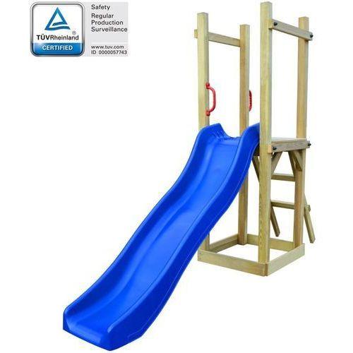 Zestaw do zabawy ze zjeżdżalnią i drabinką, 237x60x175, drewno