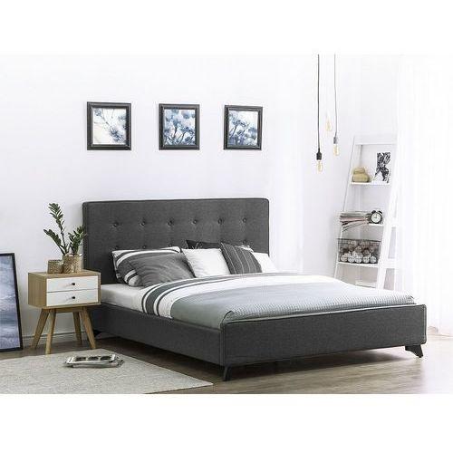 Beliani Nowoczesne łóżko tapicerowane ze stelażem 180x200 cm szare ambassador (7081451951847)