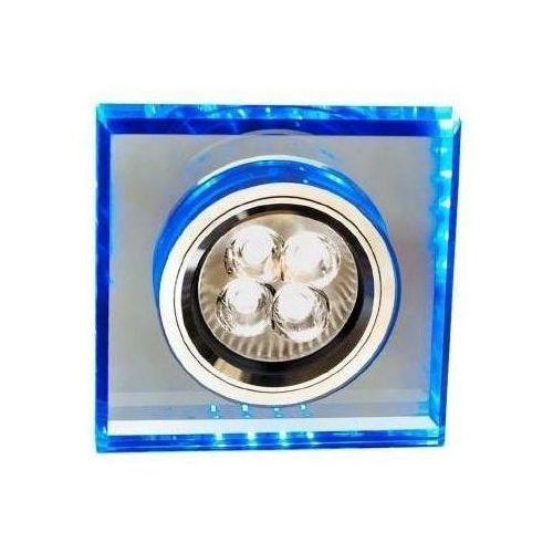 Candellux Oprawa oczkowa kwadratowa led 1 x 50 w gu10 niebieska