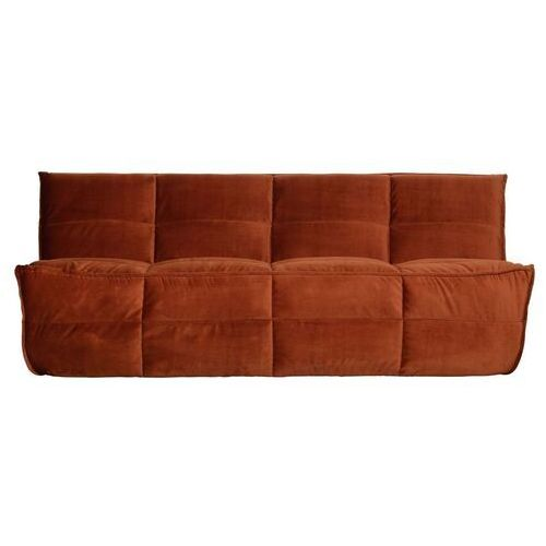 Woood Sofa Cluster 3-osobowa velvet rdzawa 375141-R (8714713098163)