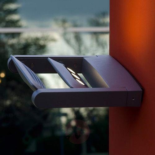 Lampa ścienna zewnętrzna led 6144 s2 gr, 2x9 w, led wbudowany na stałe, ip54, (dxsxw) 25 x 21 x 4.5 cm marki Eco-light