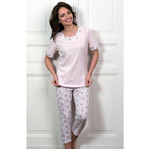Piżama Cana 178 kr/r S-XL S, różowy jasny-biały. Cana, L, M, S, XL, 1 rozmiar