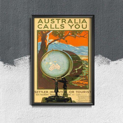 Plakat w stylu vintage plakat w stylu vintage australia cię wzywa marki Vintageposteria.pl