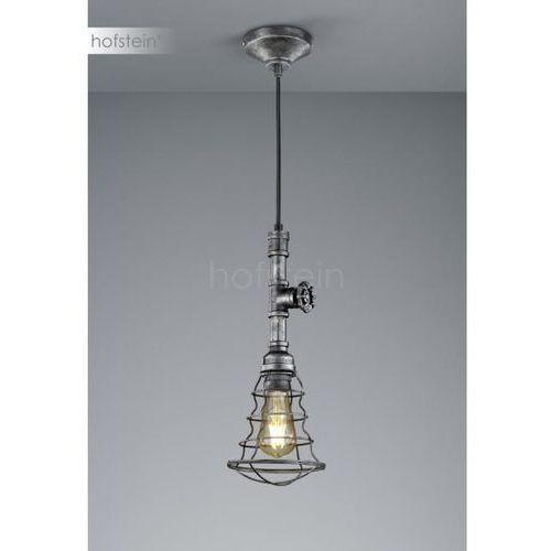 Trio-Leuchten Gotham Lampa Wisząca Srebrny, Ciemnobrązowy, 1-punktowy - Vintage - Obszar wewnętrzny - GOTHAM - Czas dostawy: od 3-6 dni roboczych, 307000188