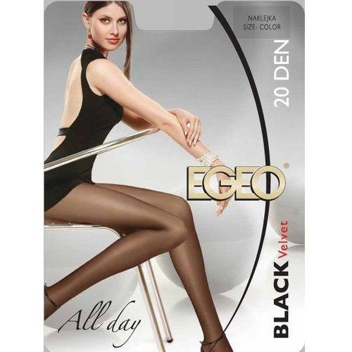 Rajstopy black velvet 20 den 24h 5-xl, beżowy/beige. egeo, 2-s, 3-m, 4-l, 5-xl marki Egeo