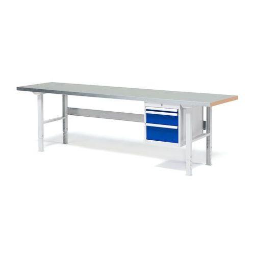 Aj produkty Stół warsztatowy solid, zestaw z 3 szufladami, 500 kg, 2500x800 mm, stal