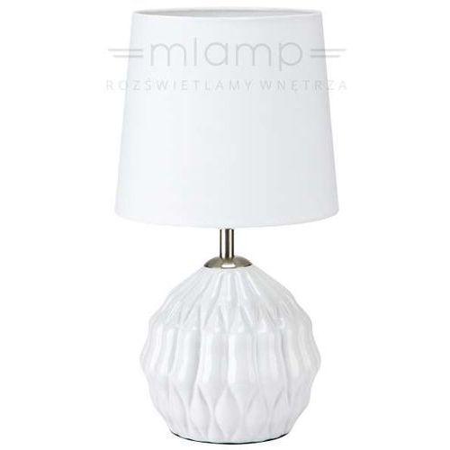 Ceramiczna LAMPA stołowa LORA 106880 Markslojd abażurowa LAMPKA biurkowa biała