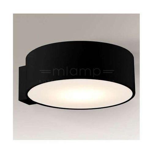 Shilo Plafon lampa sufitowa zama 8013/gx53/cz okrągła oprawa minimalistyczna ip44 czarna