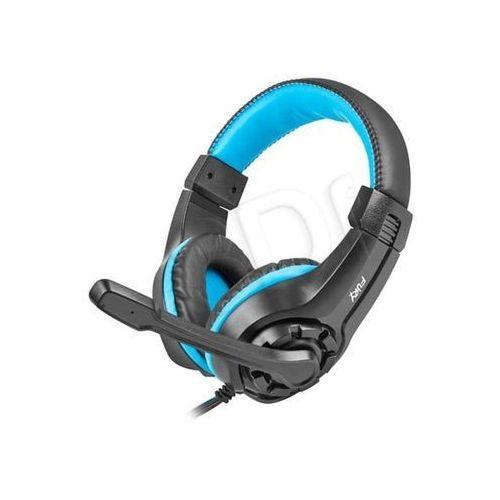 Słuchawki nauszne z mikrofonem Natec Fury Wildcat (czarno-niebieskie)