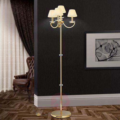 Orion Kryształowa lampa stojąca avala, złoto 24-karatowe
