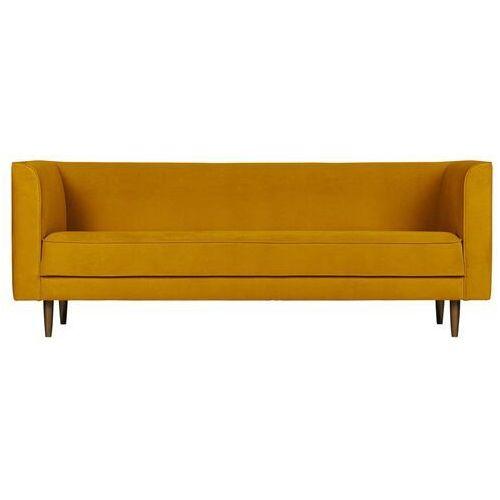 Woood Sofa Studio 3-osobowa velvet musztardowa 375119-O (8714713096411)