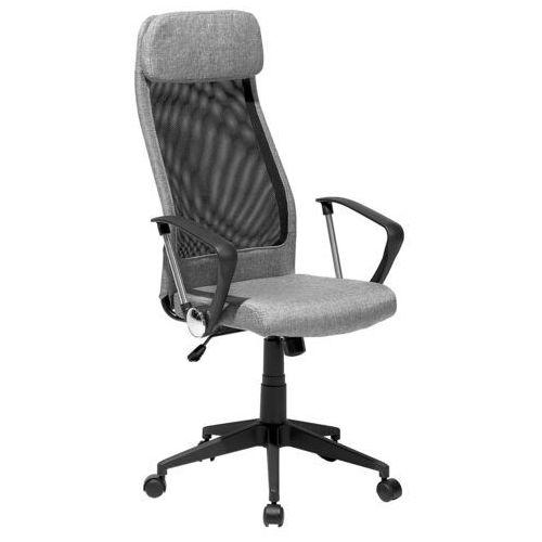 Beliani Krzesło biurowe szare regulowana wysokość pioneer (4260586355291)