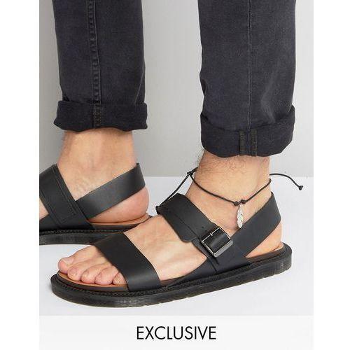 Reclaimed Vintage Inspired Anklet With Feather Pendant - Black - produkt z kategorii- Pozostałe