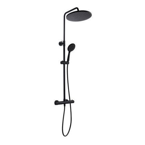 Kuchinox Kolumna prysznicowa boro z baterią termostatyczną czarna (5907791169976)