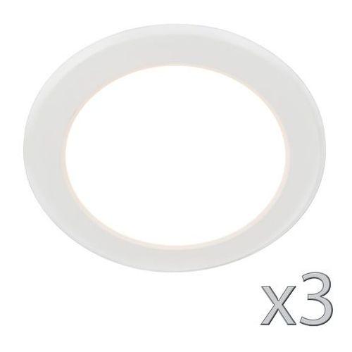 Zestaw 3 opraw do wbudowania unit 12w biała marki Qazqa