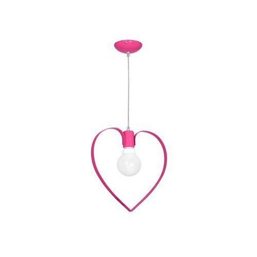 Decoland Dziecięca lampa wisząca love 1xe27/60w/230v różowa (5907565999563)