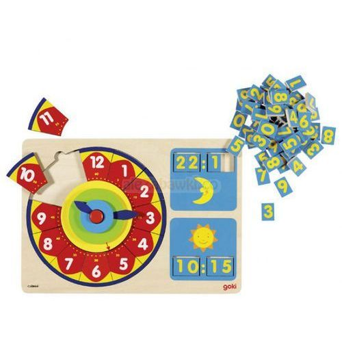 Zegar, czas uczyć się, 85 el. marki Goki