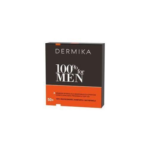 Dermika 100% for men 50+, zestaw prezentowy, krem 50ml + balsam po goleniu 40ml