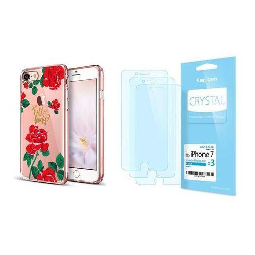 Esr Zestaw | etui art case red rose + folia spigen crystal film - iphone 7 / 8