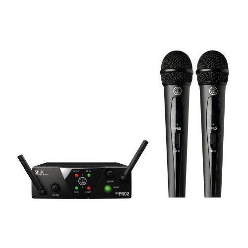 wms40 mini dual vocal set us25 a/c mikrofon bezprzewodowy podwójny (537.500 i 539.300) marki Akg