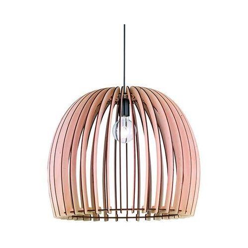 Rustykalna lampa wisząca drewno 60cm - Twan