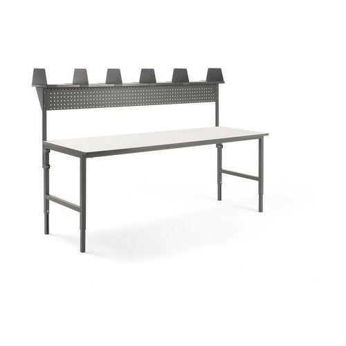 Aj produkty Stół cargo, 2400x750 mm, nadstawka, panel narzędziowy