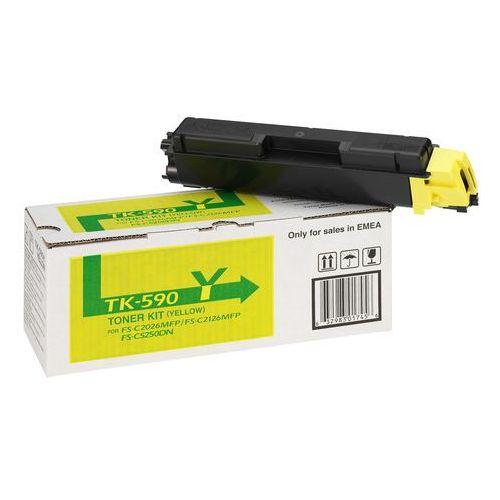 Kyocera oryginalny toner TK590Y, yellow, 5000s, 1T02KVANL0, Kyocera FS-C 2026/2126MFP