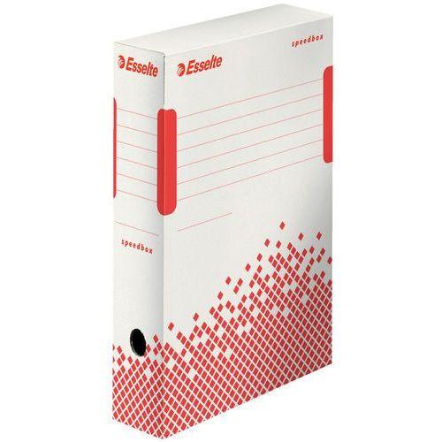 Pudło archiwizacyjne 80mm. Esselte Speedbox białe (350x80x250)