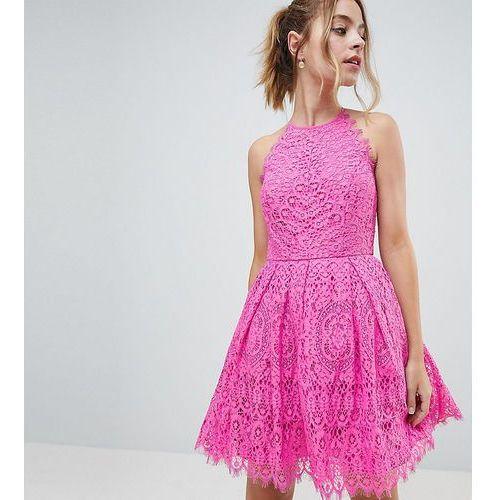 Asos design petite pinny prom mini dress in lace - pink marki Asos petite