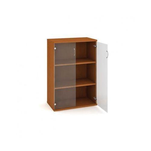 Szafka Select półkowa - przeszklona, 800x400x1152 mm, czereśnia