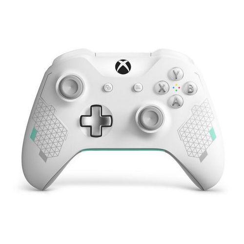 Kontroler bezprzewodowy do konsoli xbox one - wersja specjalna sport white (biały) marki Microsoft