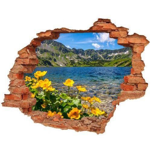 Wallmuralia.pl Dziura 3d w ścianie naklejka jezioro w górach
