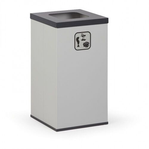 Kosz do segregacji śmieci, 42 l, bez wewnętrznego pojemnika, szary/czarny
