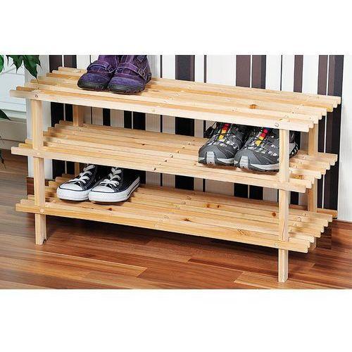 Kesper Gustowny stojak na buty z drewna sosnowego, regał na buty, szafka na buty do przedpokoju, półka na buty, drewniana półka,