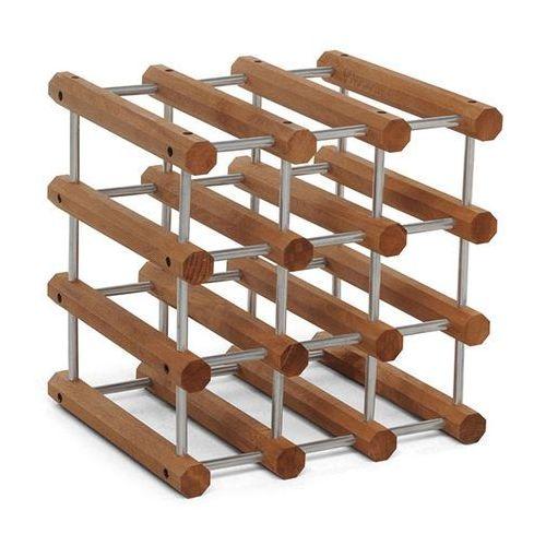 Foppapedretti Stojak drewniany na butelki ilcantiniere - orzech włoski / aluminium